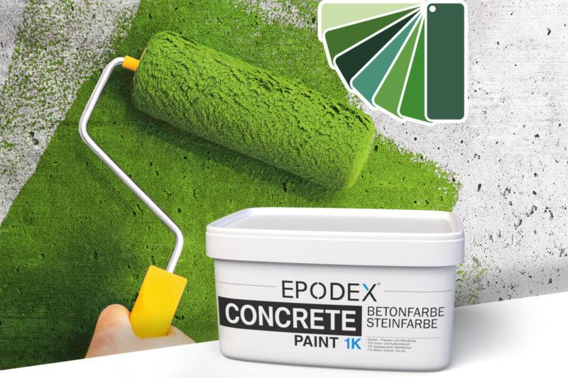 betonfarbe concrete paint gruen