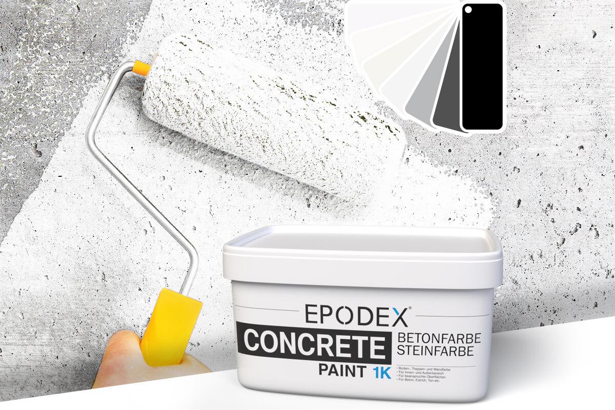 betonfarbe concrete paint schwarz weiss