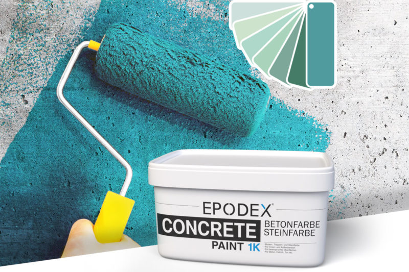 betonfarbe concrete paint tuerkis