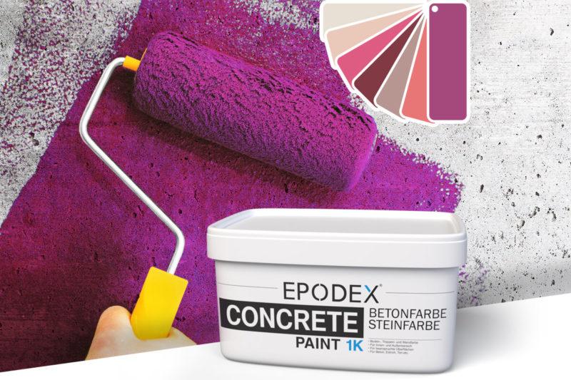 betonfarbe concrete paint violett