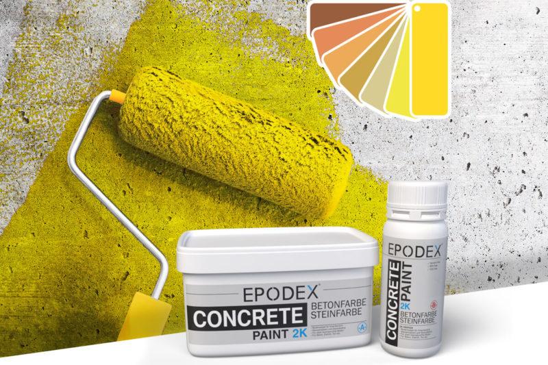 bodenfarbe betonfarbe concrete gelb