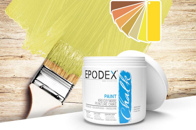 kreidefarbe chalk paint epodex gelb