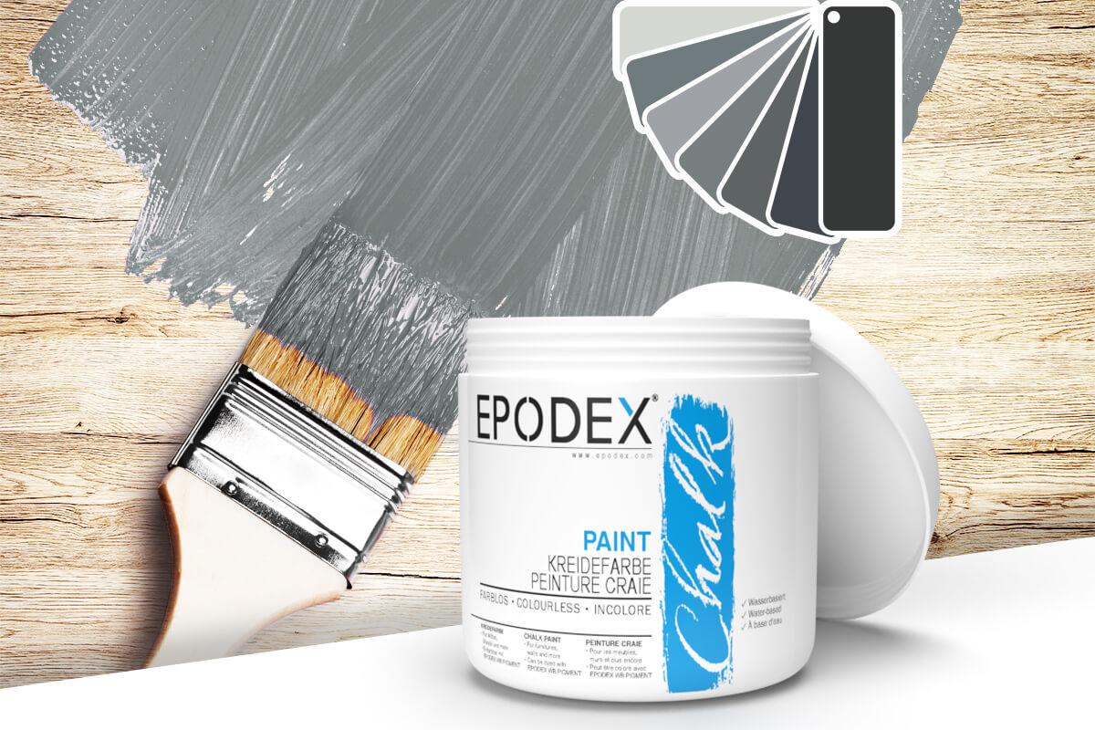 kreidefarbe chalk paint epodex grau