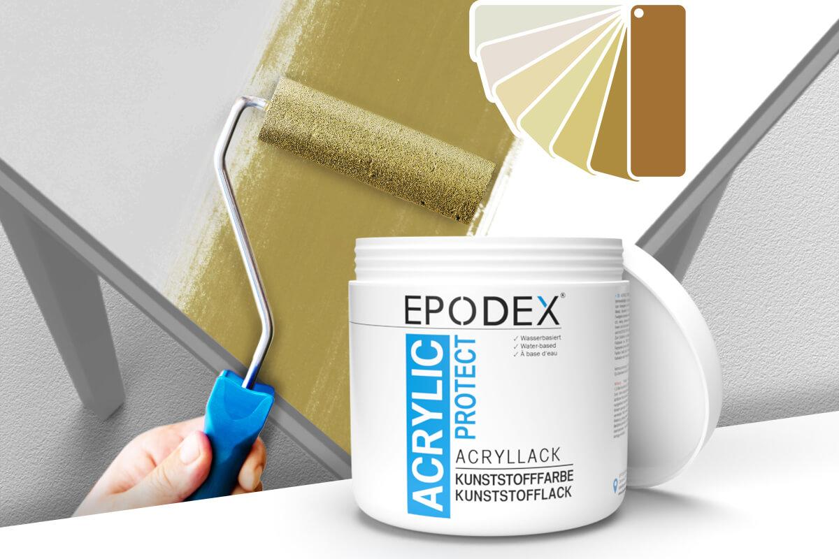 acryllack kunststofffarbe beige