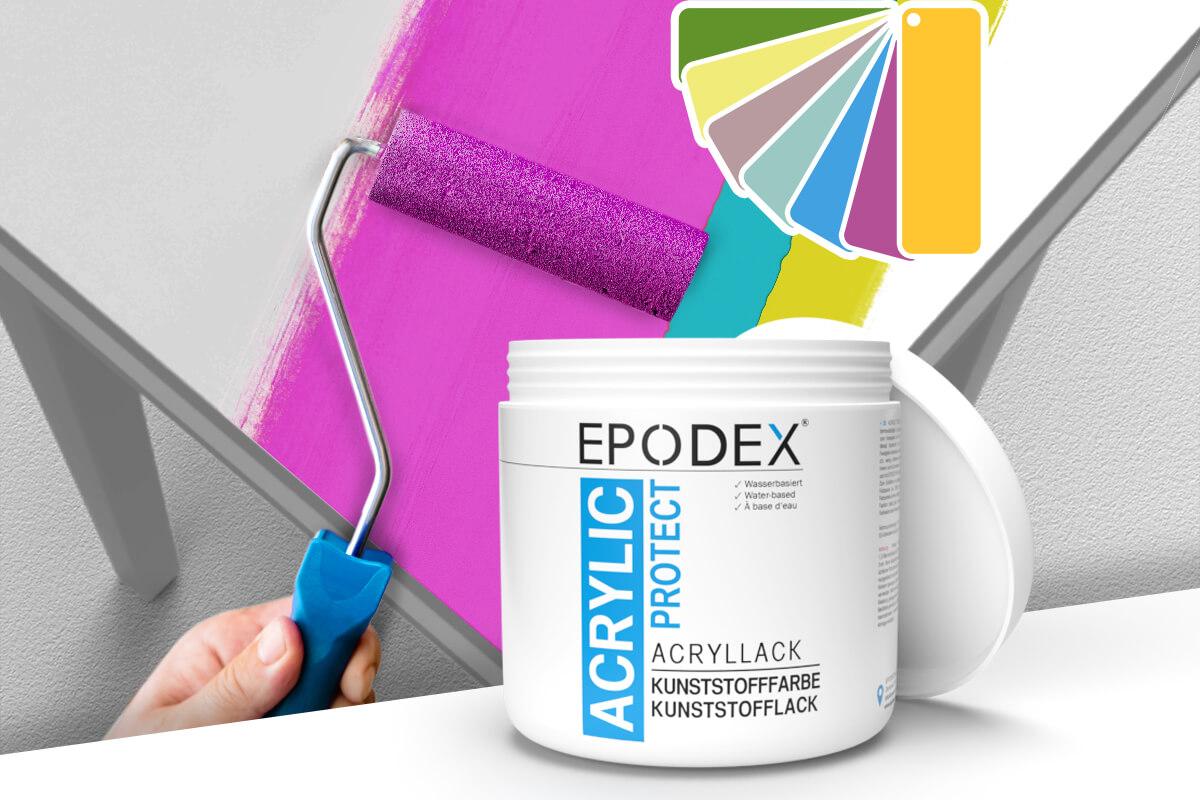 acryllack kunststofffarbe bunt