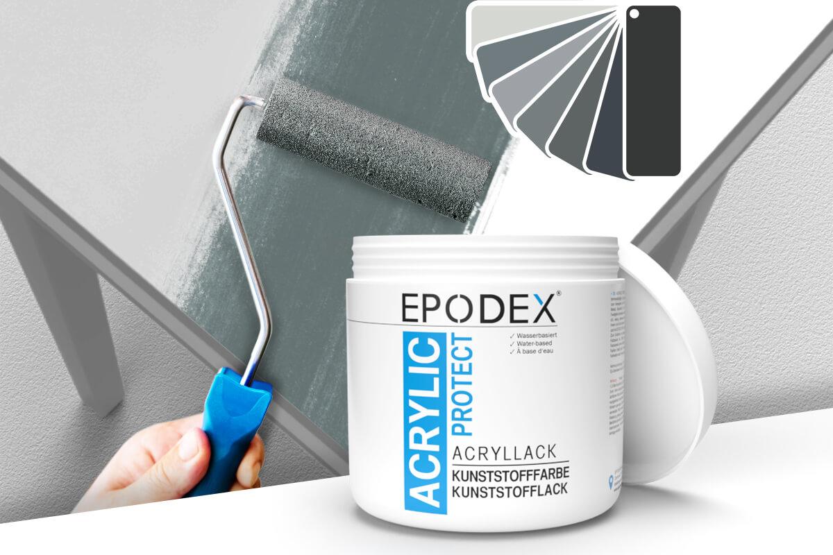 acryllack kunststofffarbe grau