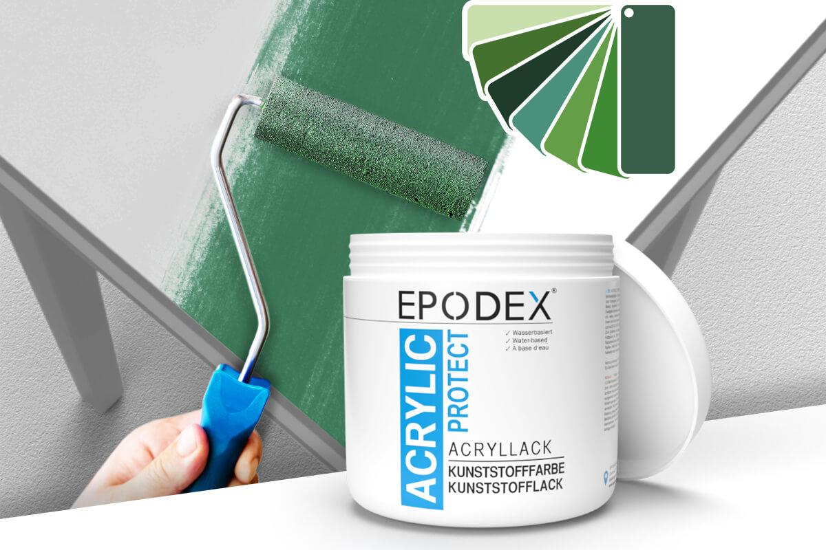 acryllack kunststofffarbe gruen