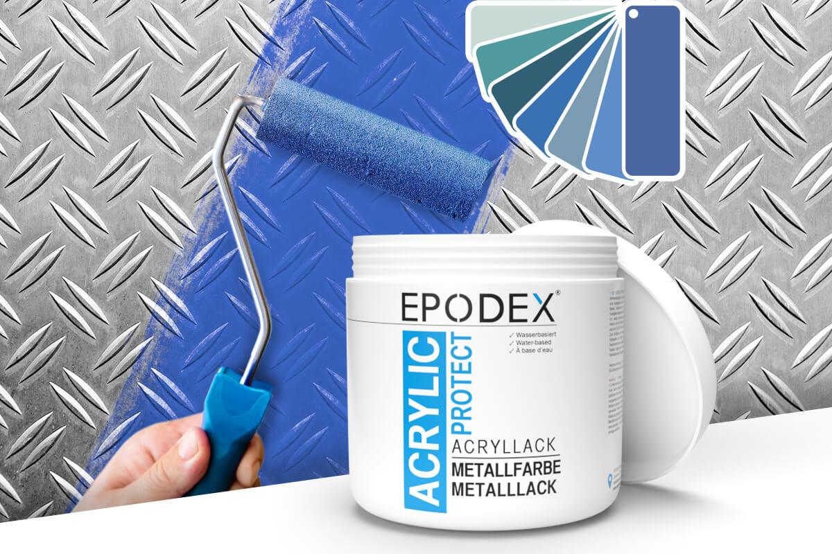 acryllack metallfarbe blau