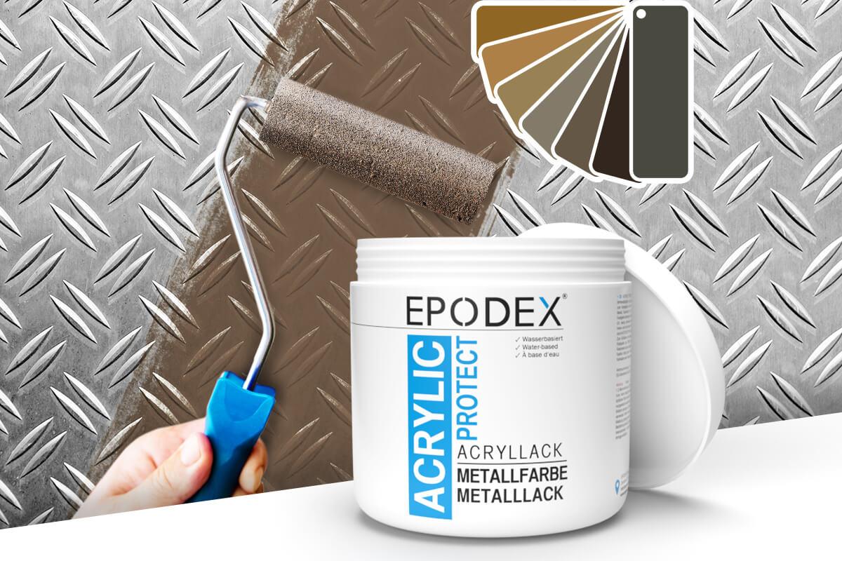 acryllack metallfarbe brown