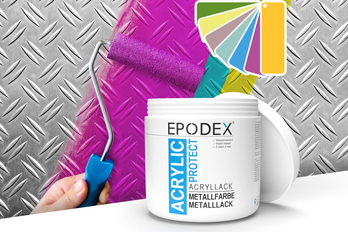 acryllack metallfarbe bunt
