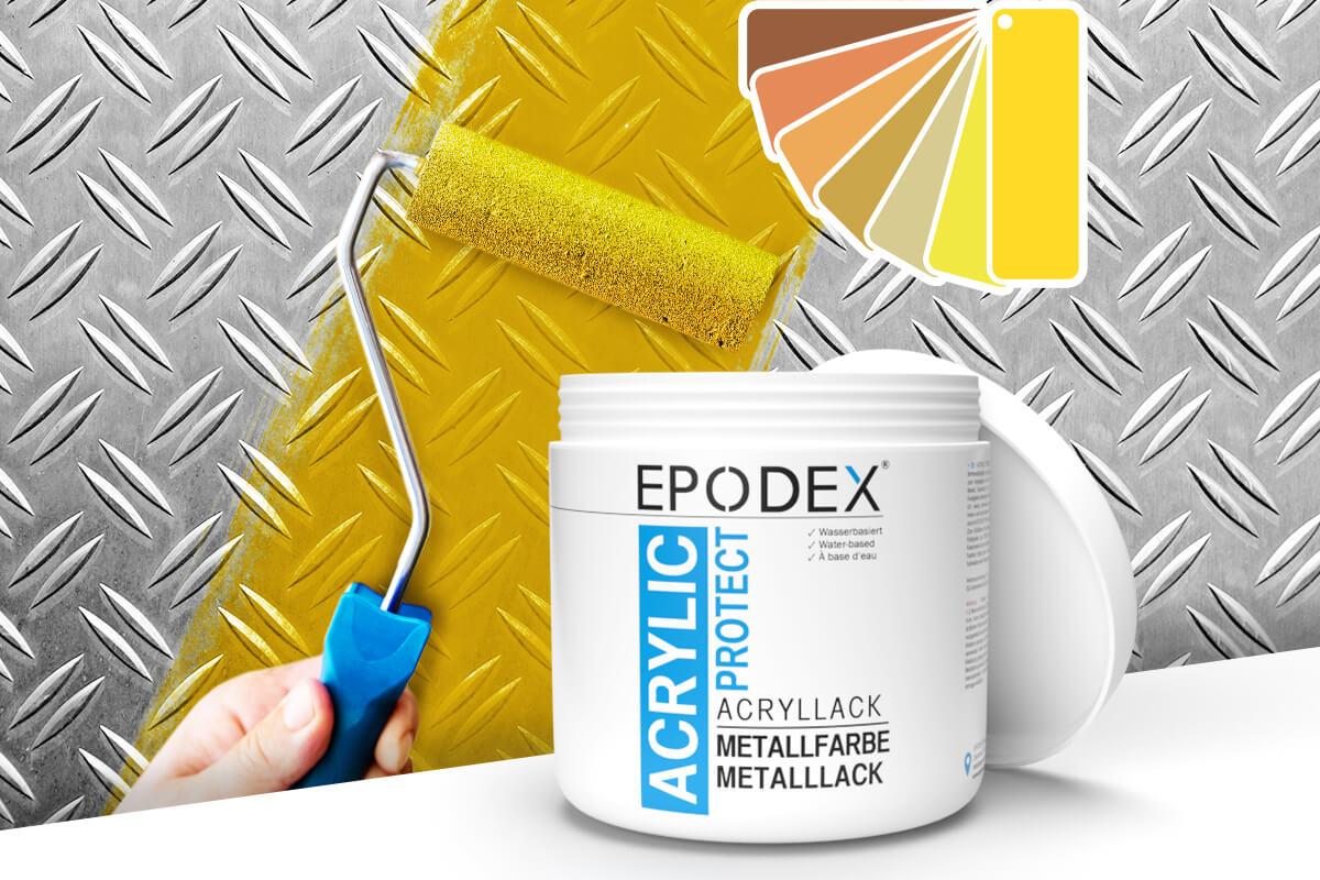 acryllack metallfarbe gelb