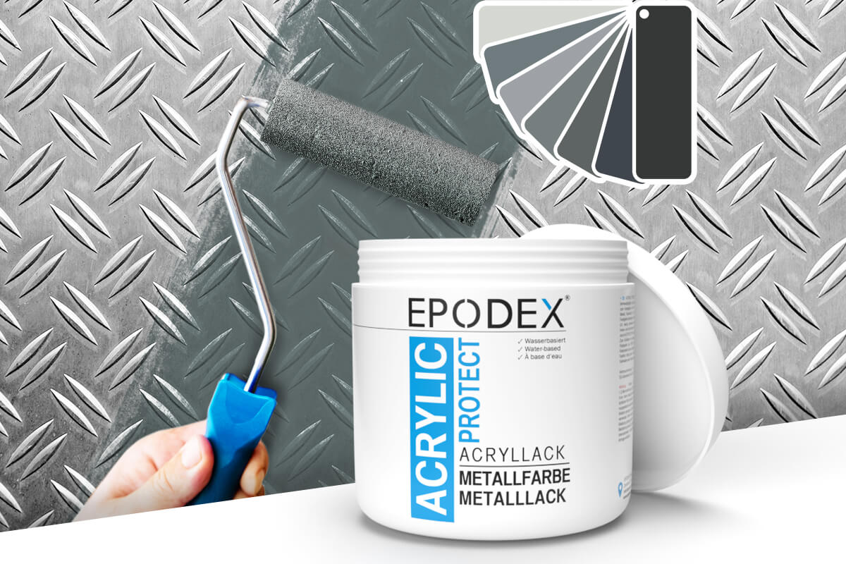 acryllack metallfarbe grau