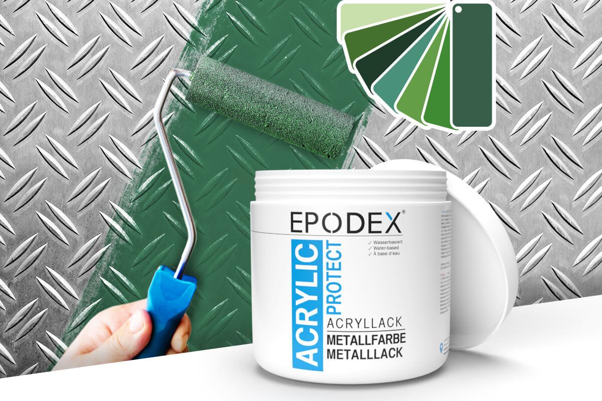 acryllack metallfarbe gruen