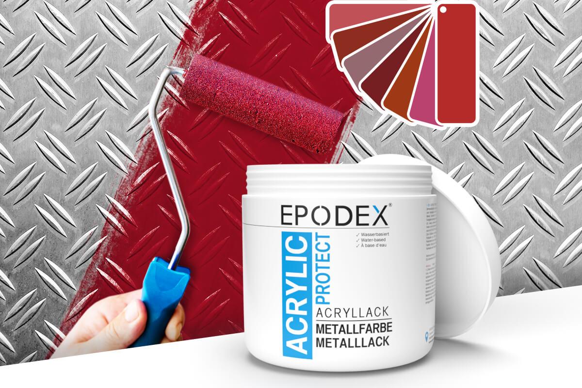 acryllack metallfarbe rot