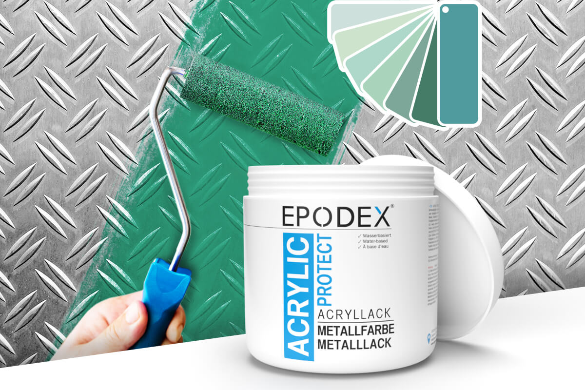 acryllack metallfarbe tuerkis