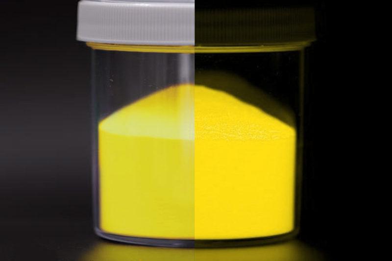 epoxy glow in the dark pigment yellow