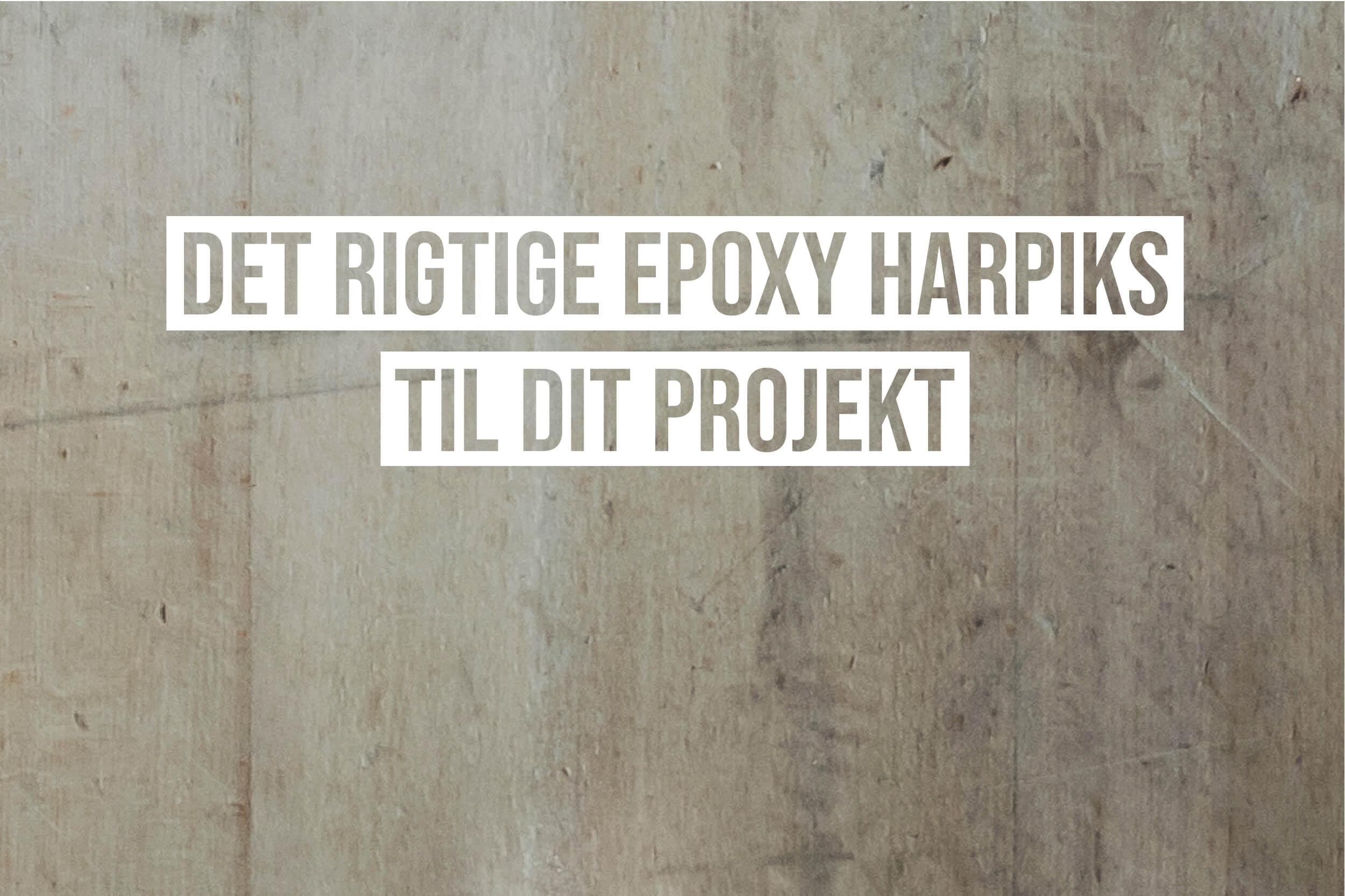 epoxy resin harpiks