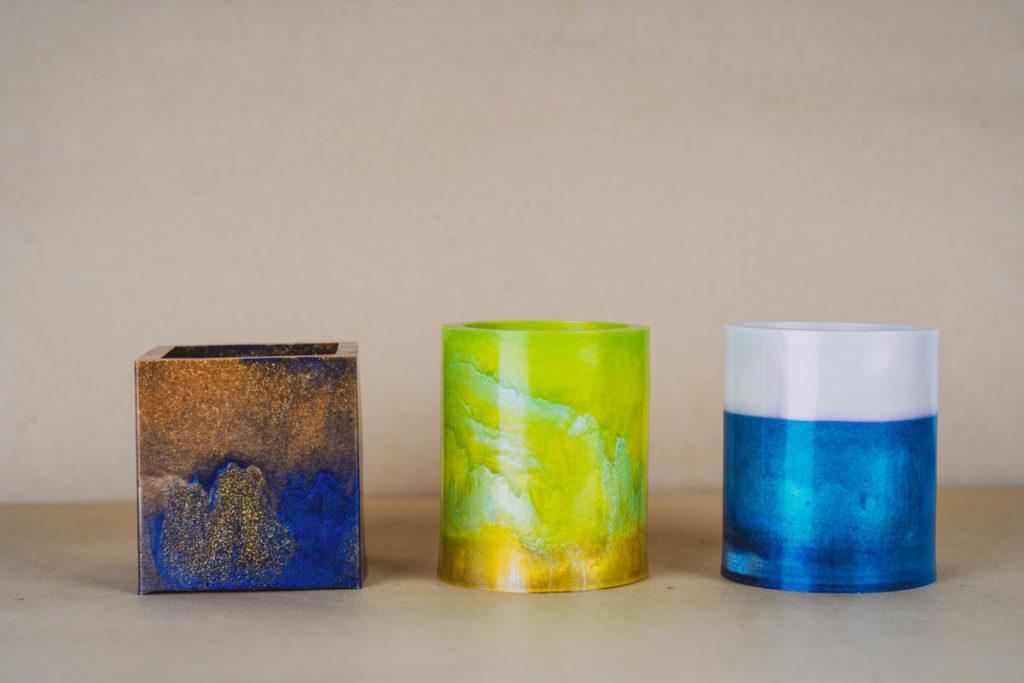 epoxy resin candleholder