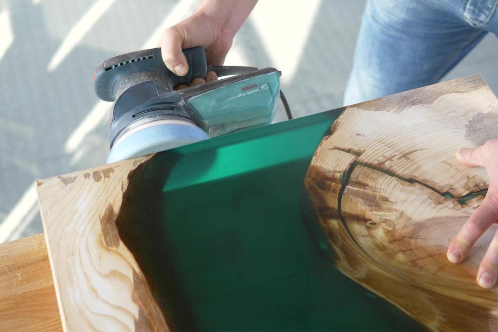 polishing epoxy resin machine