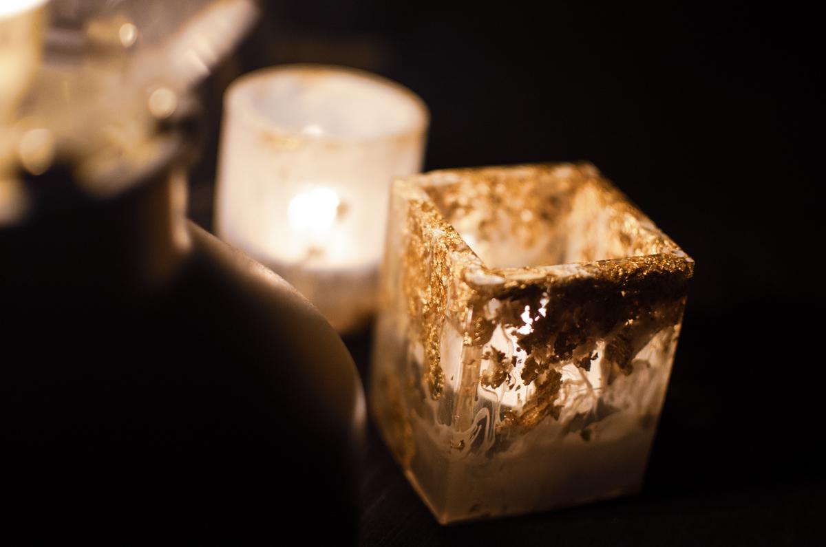 tea light holders epoxy resin diy