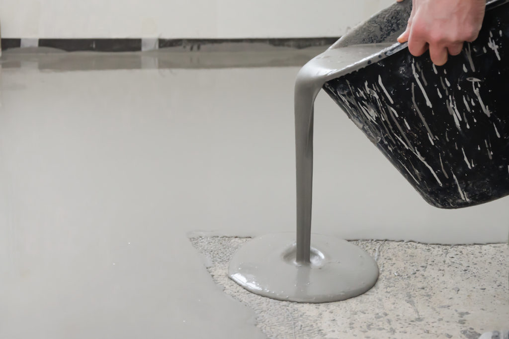 cast resin liquid floor