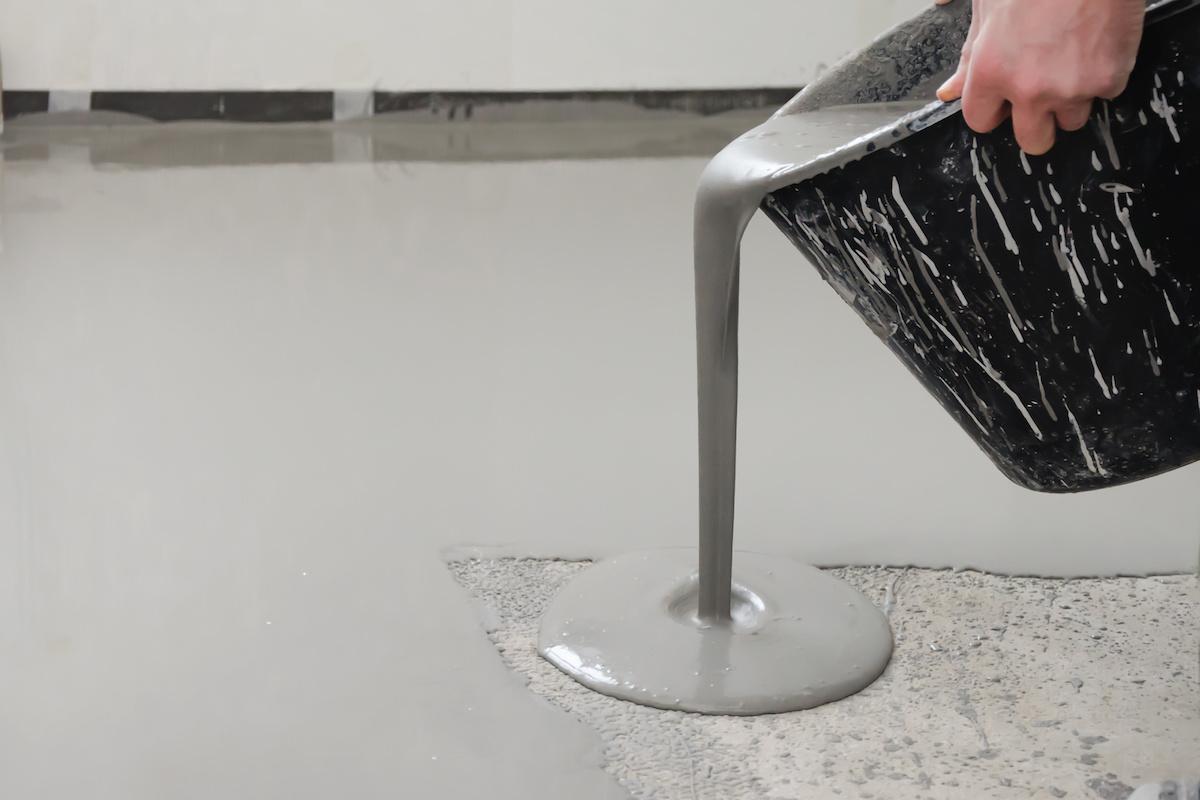 cast resin liquid floor