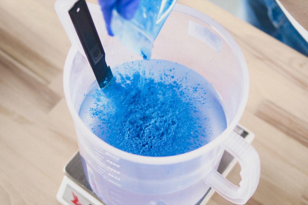epoxy paint metallic blue