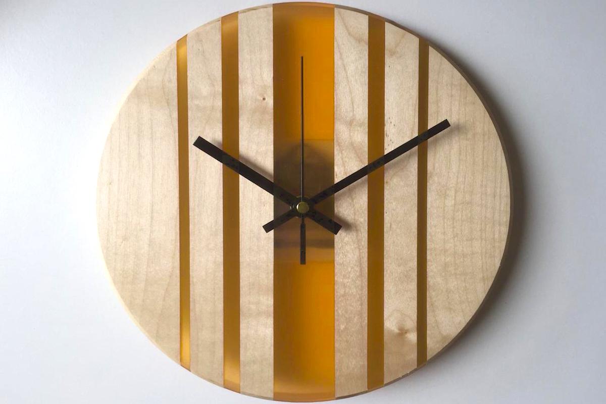 epoxy resin art clock