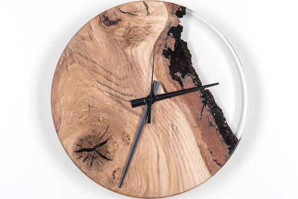 epoxy resin furniture clock