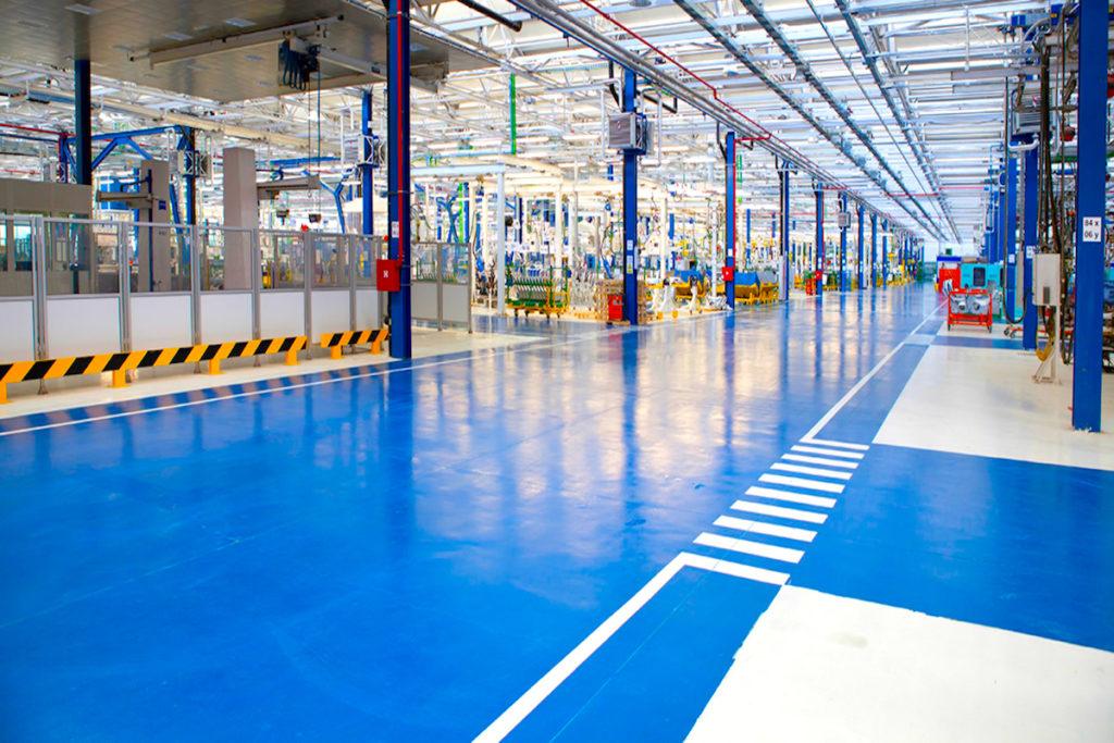 industrial flooring epoxy coloured