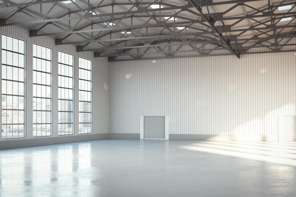 industrial flooring epoxy grey