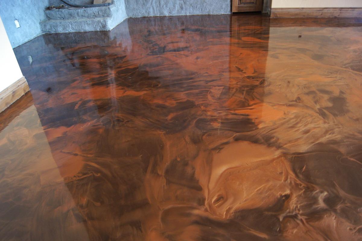resin floor design