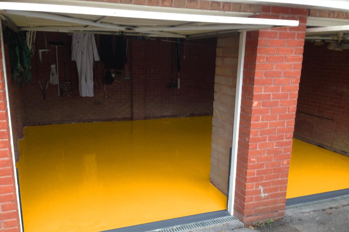 resin floor garage