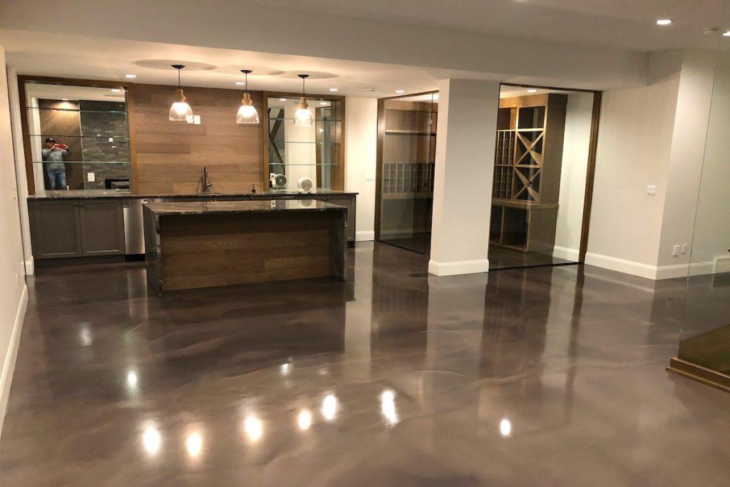 resin floor livingroom