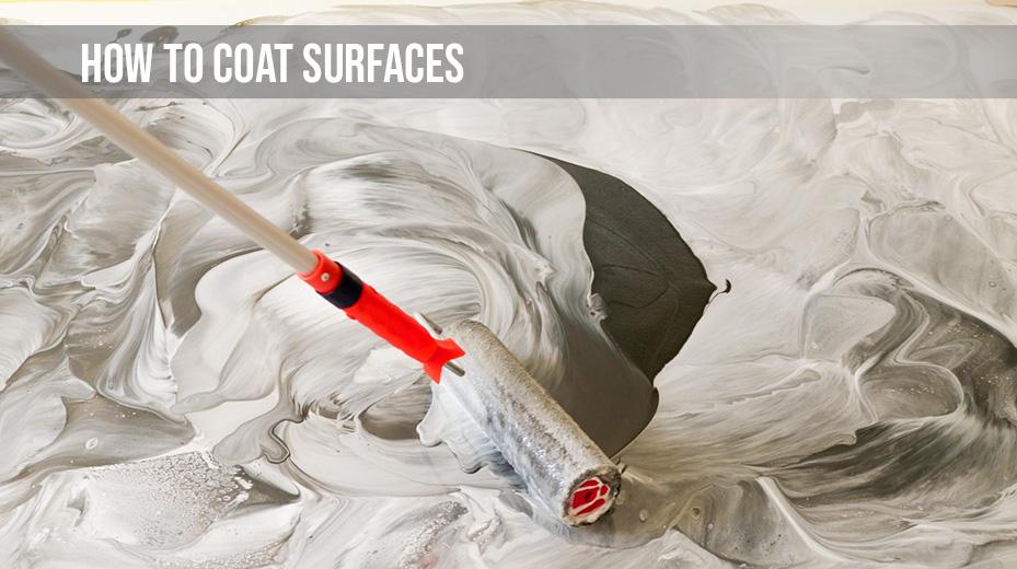 how to coat resin flooring