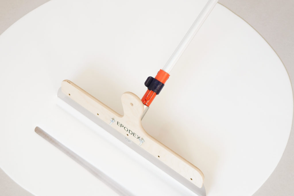 resin flooring white