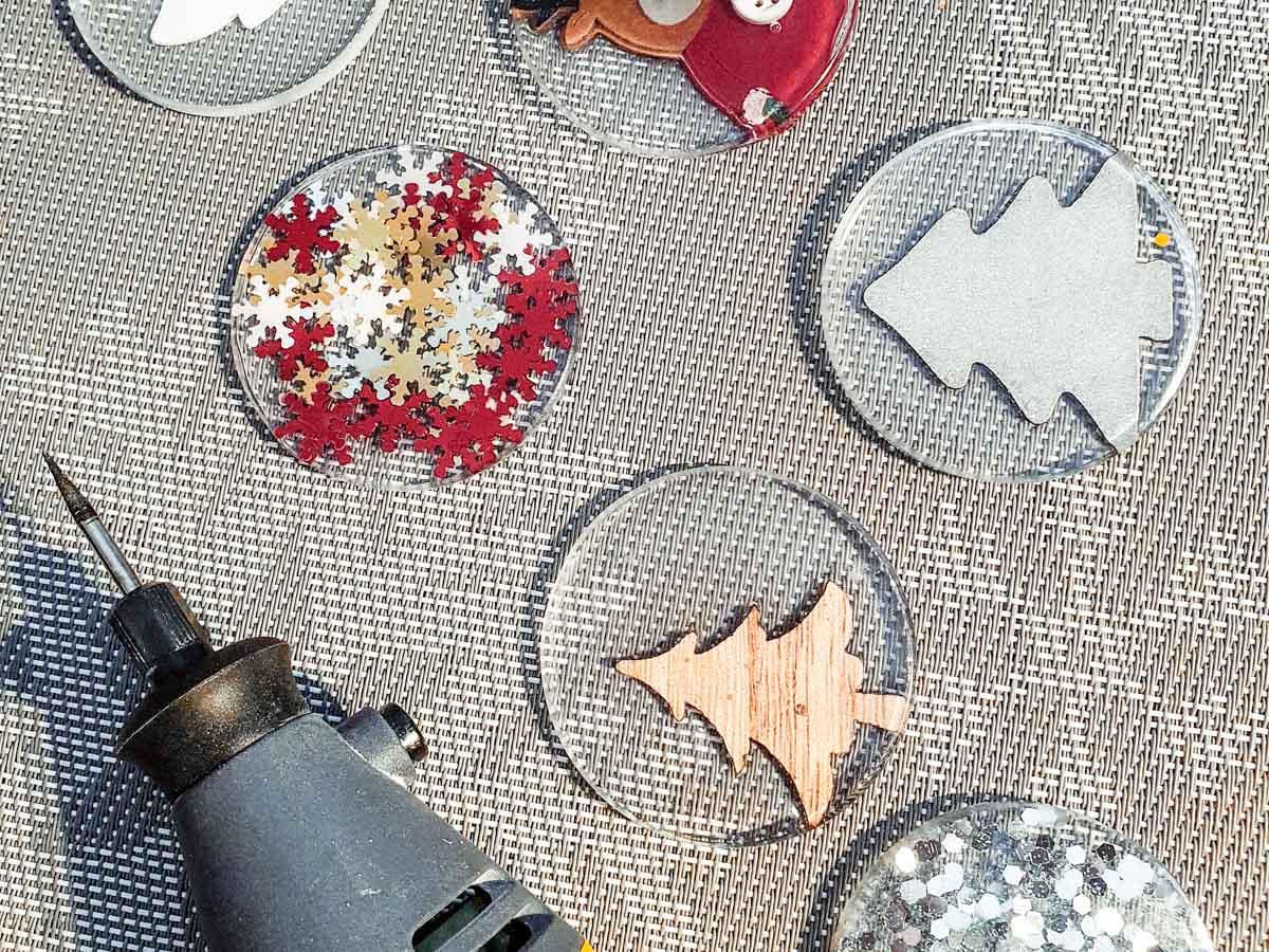 christmas decoration diy wth epoxy