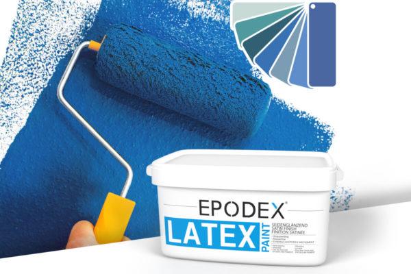Latex paint epodex blau