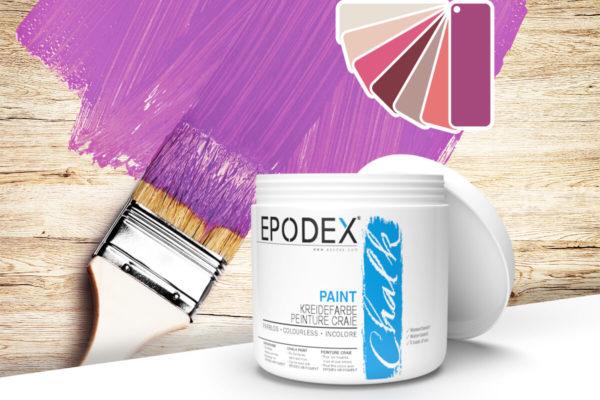 kreidefarbe chalk paint epodex violett