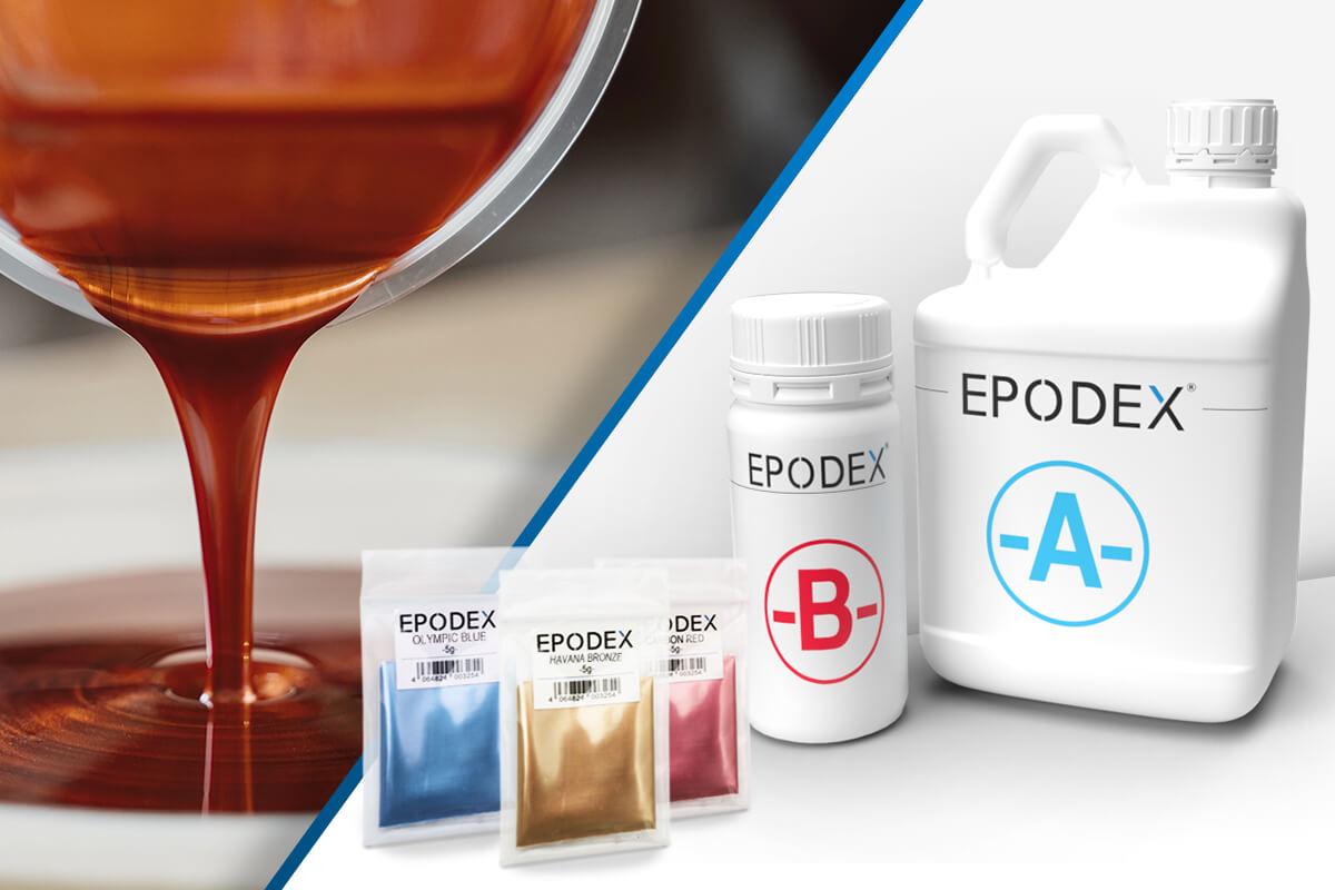epoxy resin epodex metallic colours