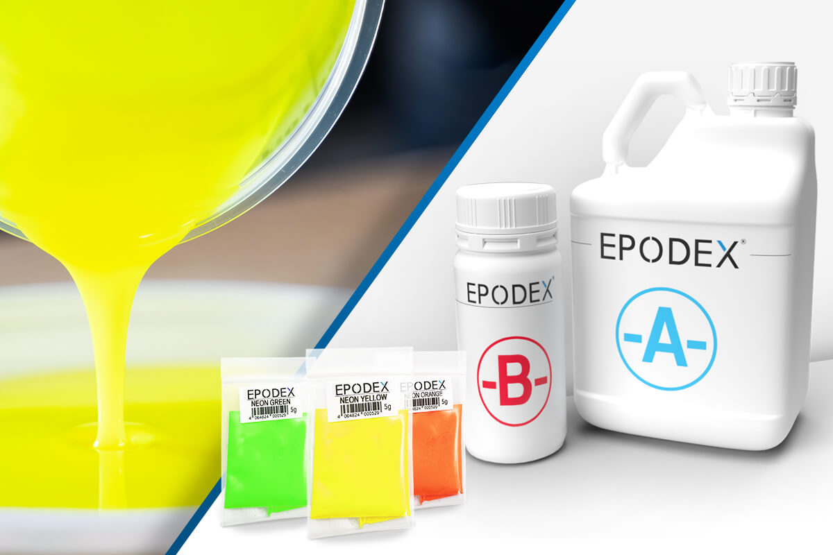 epoxy resin epodex neon colours