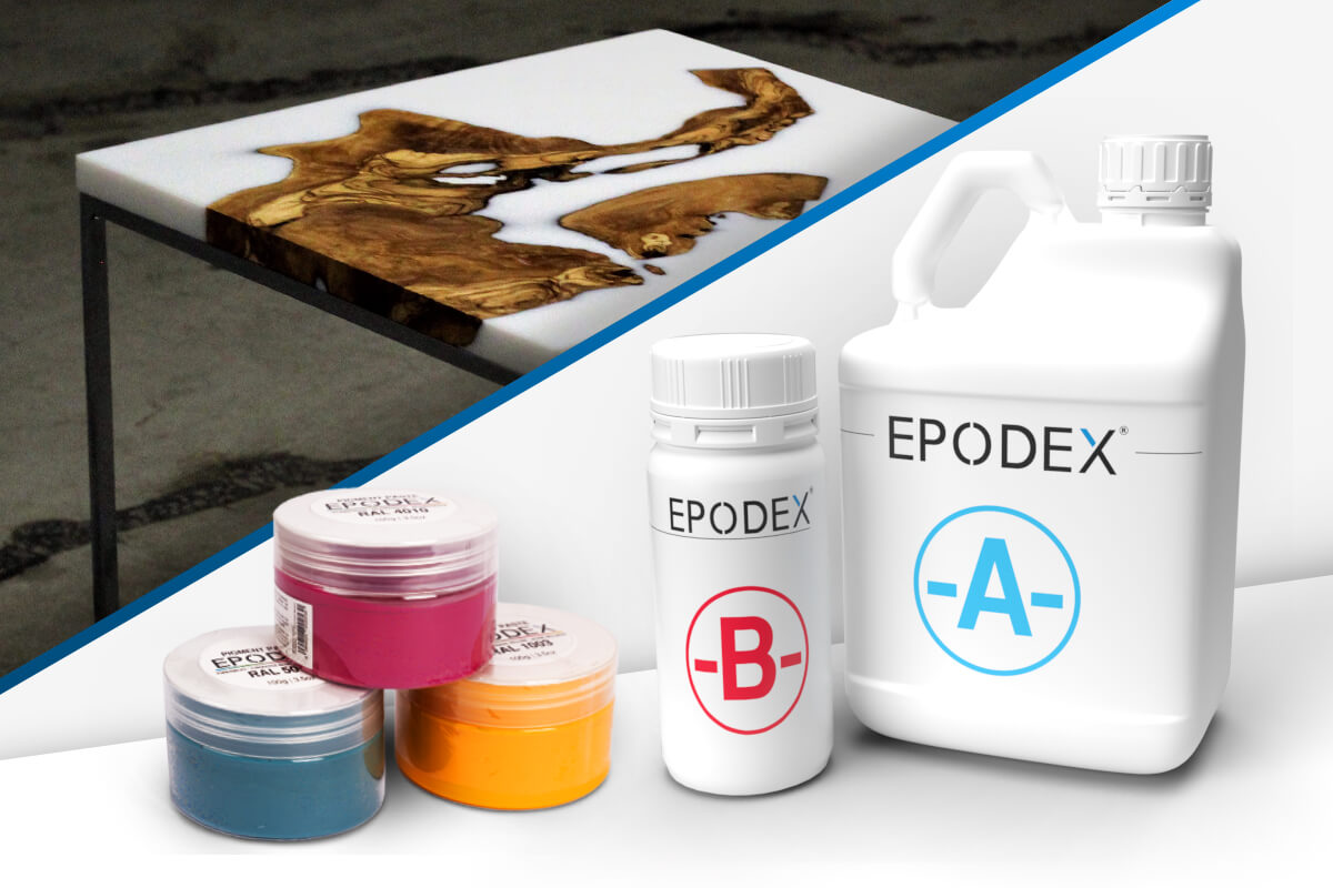 epoxy resin table solid colours