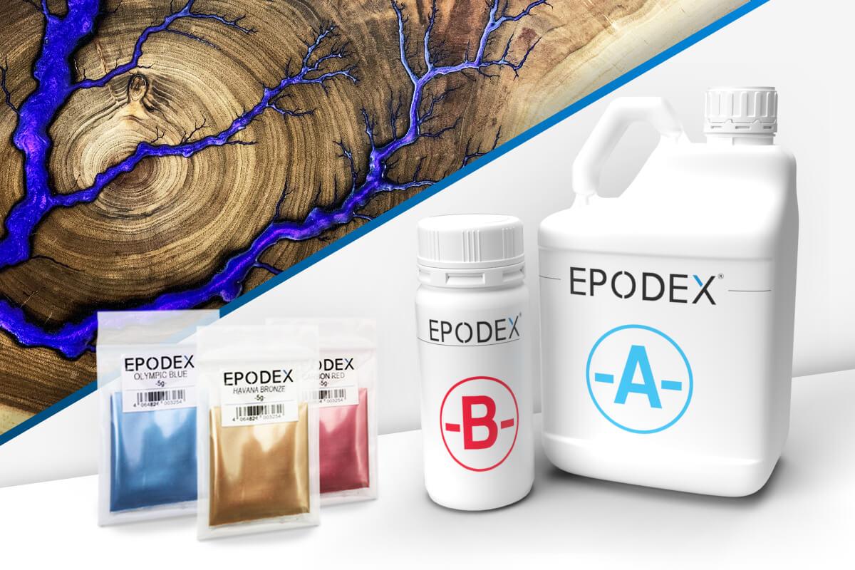epoxy resin wood metallic colours