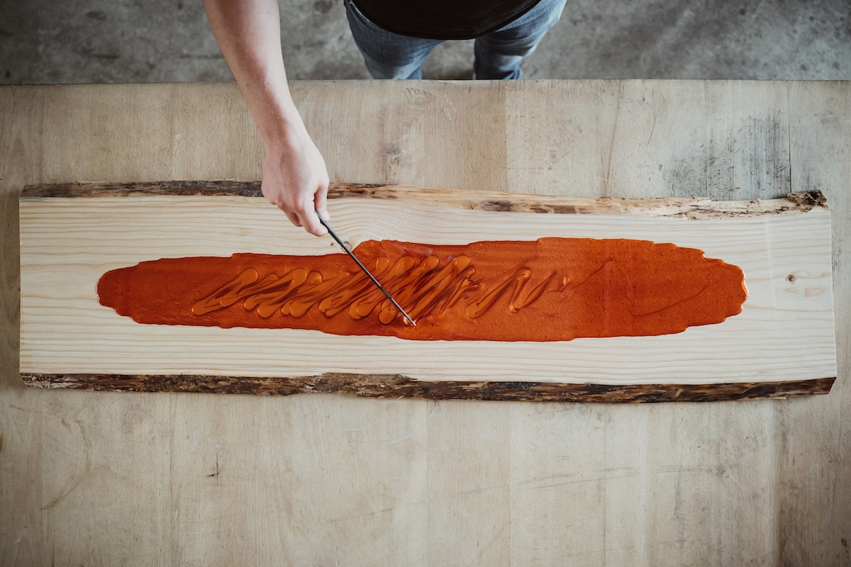 epoxi resina madera