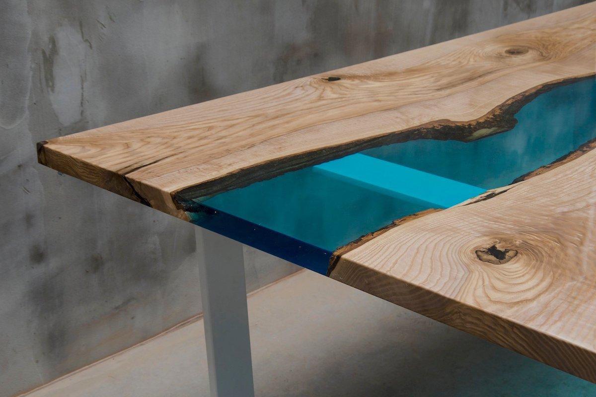 mesa de resina epoxi