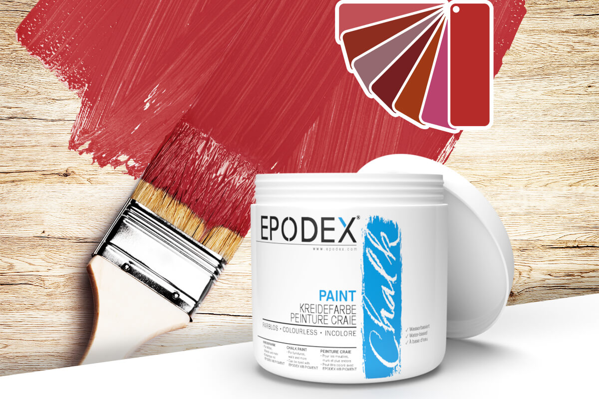 kreidefarbe chalk paint epodex rot