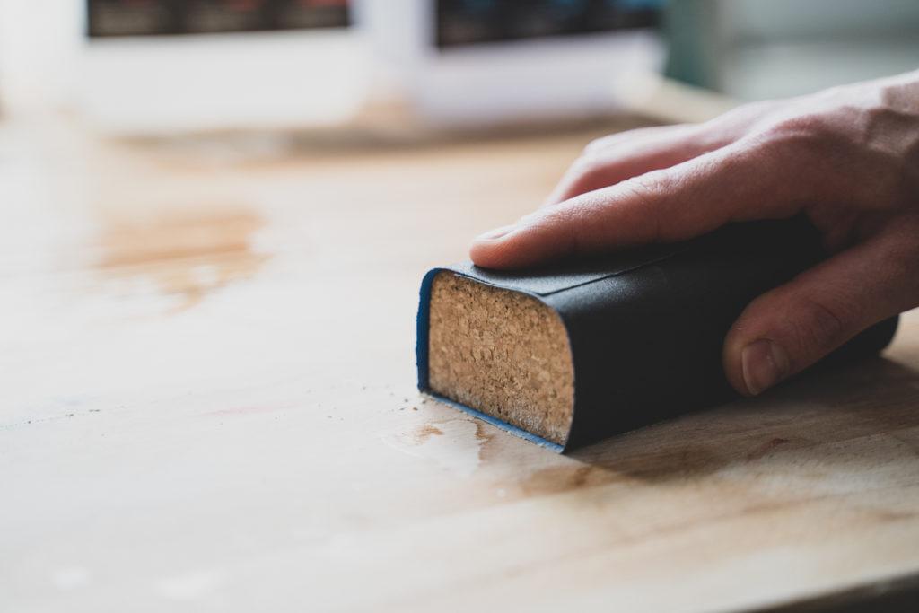polish bois resine