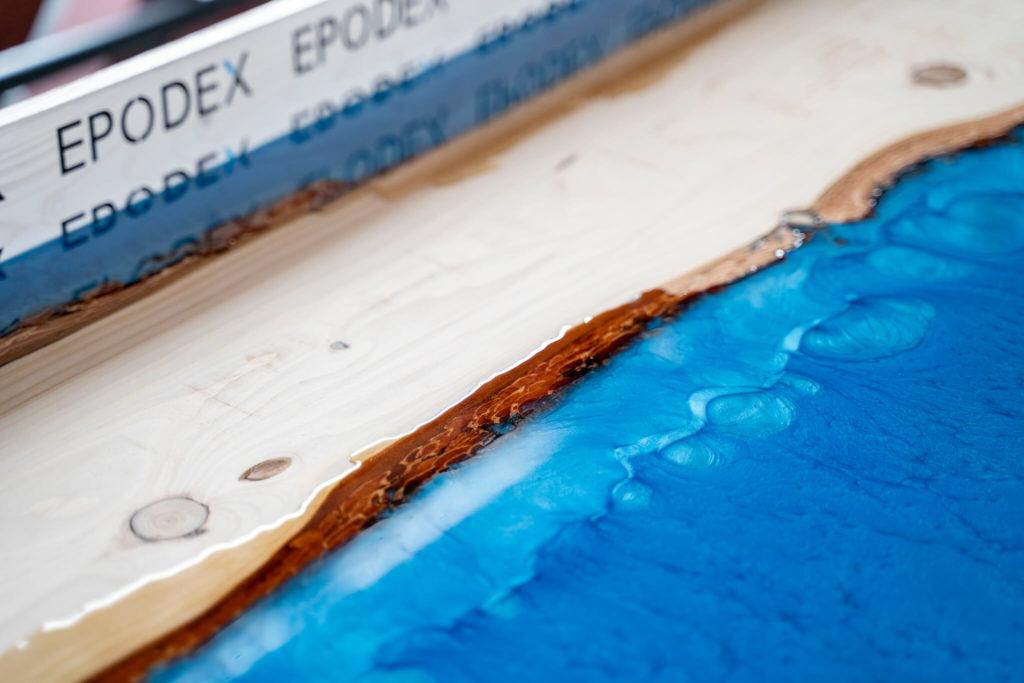 peinture resine table