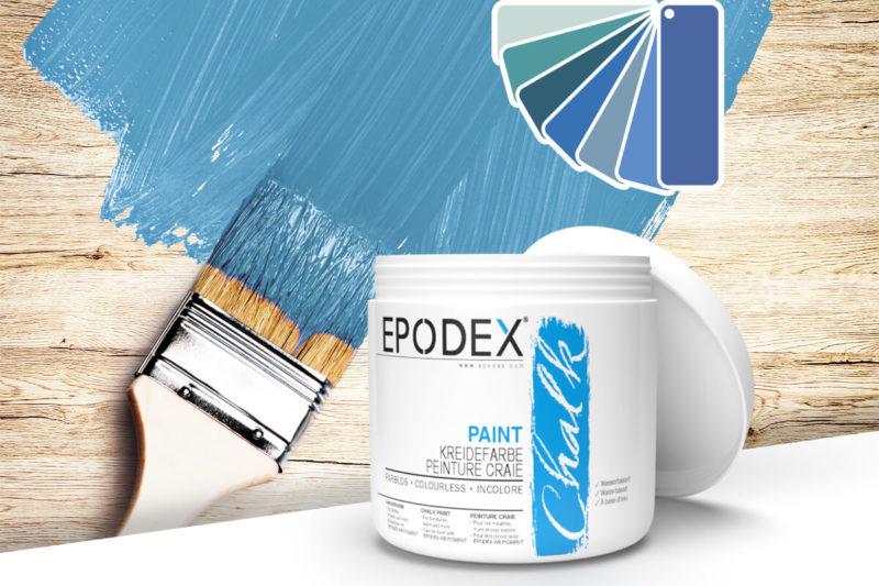 kreidefarbe chalk paint epodex blau