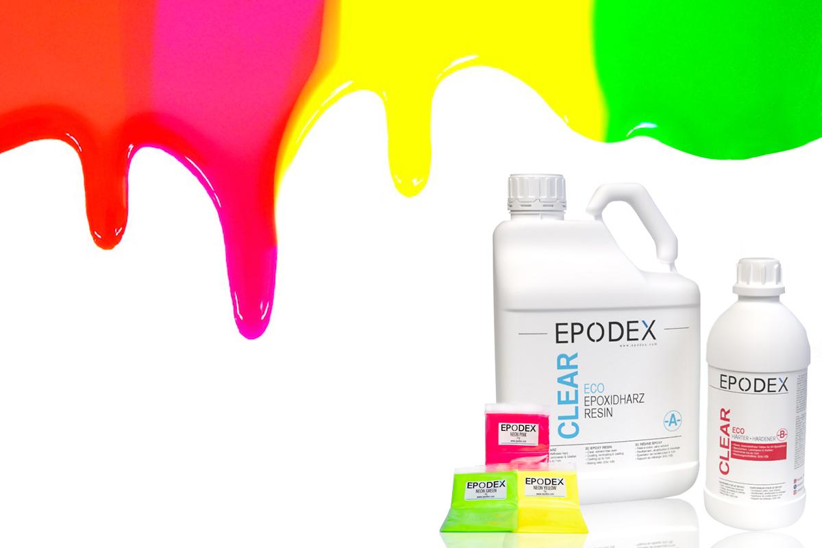 żywice epoksydowe neonowych kolorach